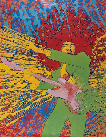 Jimi Hendrix: Explosion poster,  1968,