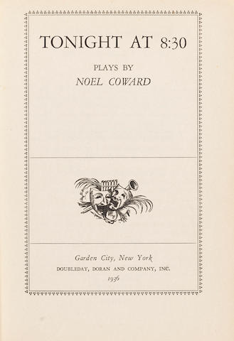 Noël Coward: A red leather bound book 'Tonight At 8.30, Plays by Noel Coward',
