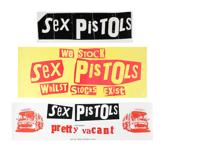 The Sex Pistols: Three promotional banners, 1977,3