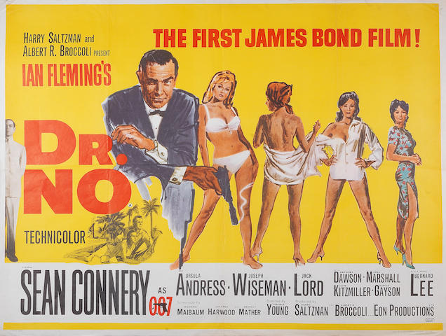 Dr No, Eon/ United Artists, 1962,