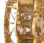 A very fine mid 19th century exhibition-quality gilt and engraved brass quarter chiming skeleton clock John Moore and Sons, Clerkenwell, No. 12742 2