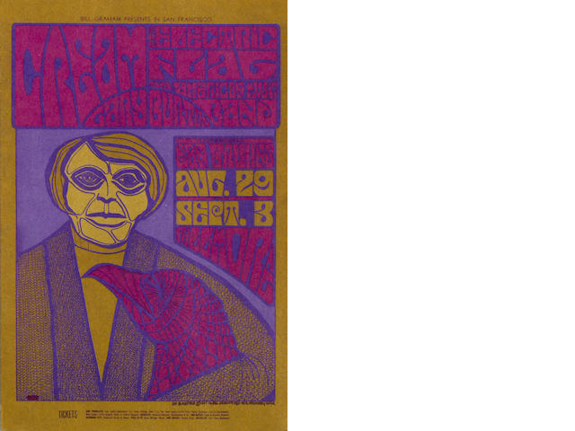 Cream: Fillmore Auditorium publicity postcards,