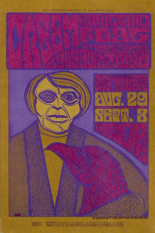 Cream: Fillmore Auditorium publicity postcards,