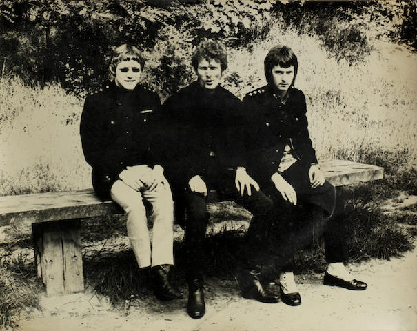 Cream: A collection of early black and white vintage publicity photographs of Cream,  all from 1967, presented to Janet Bruce,