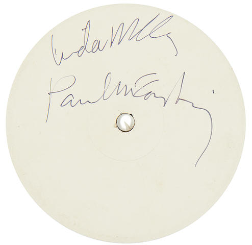 Paul McCartney: Autographed test pressings of the album 'Wings At The Speed Of Sound', 1976,