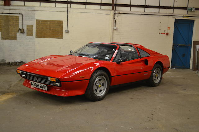 15,836 miles from new,1984 Ferrari 308GTSi Qv Targa Coupé  Chassis no. ZFFLA13C000051031 Engine no. 1888