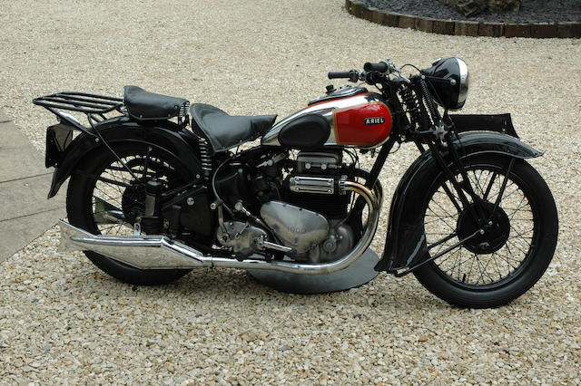 1939 Ariel 995cc Model 4G 'Square Four' Frame no. AX654 Engine no. DE653