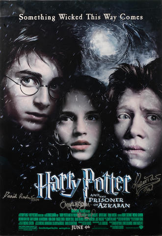 Harry Potter & The Prisoner of Azkaban, 2004: An autographed movie poster,