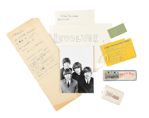 The Beatles: a harmonica box and other items, 1966,