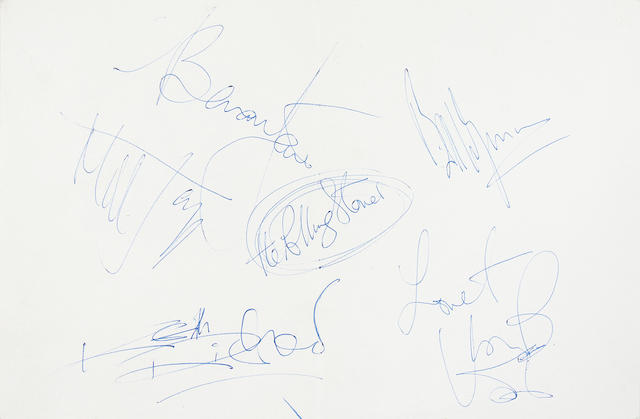 The Rolling Stones: A fine set of autographs, 1967,