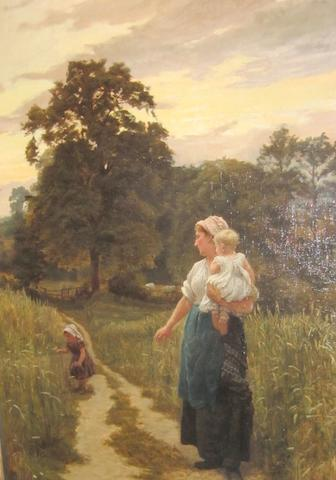 Frederick Morgan (British, 1856-1927) Family on a country path