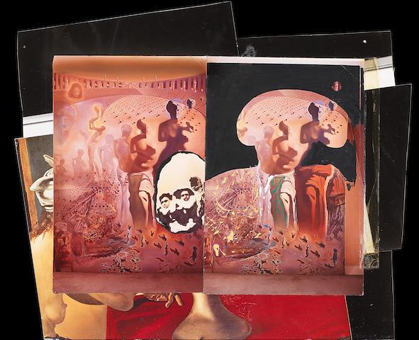 Salvador Dalí (1904-1989) Variation autour de Toréador hallucinogène et Marché d'esclaves avec apparition du buste invisible de Voltaire