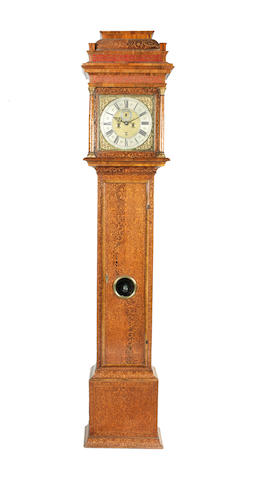 An early 18th century month going seaweed marquetry long case clock Thomas Cartwright, Royal Exchange, Londini fecit