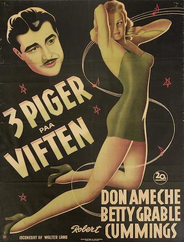 Moon Over Miami / 3 Piger Paa Viften, Twentieth Century Fox, 1941,
