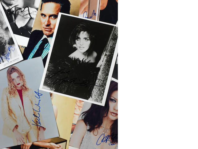 Film Star & Television Personalities: A collection of autographs,as 3 files