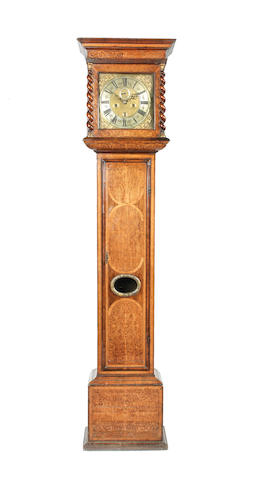 A late 17th century seaweed marquetry longcase clock William Holloway, London