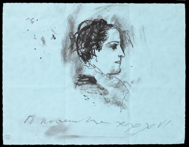 Pablo Picasso (Spanish, 1881-1973) Portrait de Dora Maar de profil