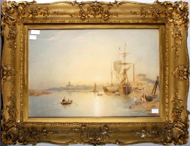 English School, 19th century 'A River Estuary Scene'