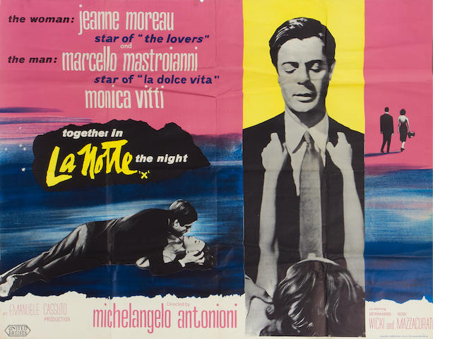 Michelangelo Antonioni: Two British quad posters,  including:2