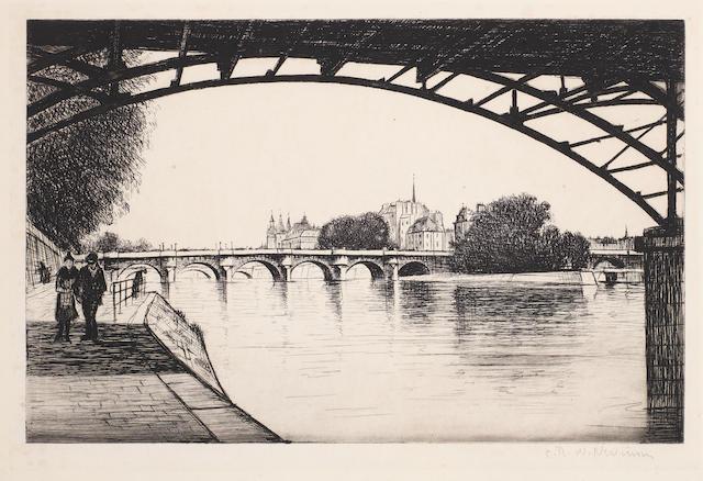 Christopher Richard Wynne Nevinson A.R.A. (British, 1889-1946) La Cite, Paris (Guichard 85)