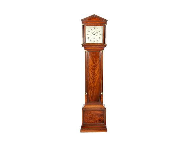 A fine early 19th century mahogany longcase clock Vulliamy, London, number 232