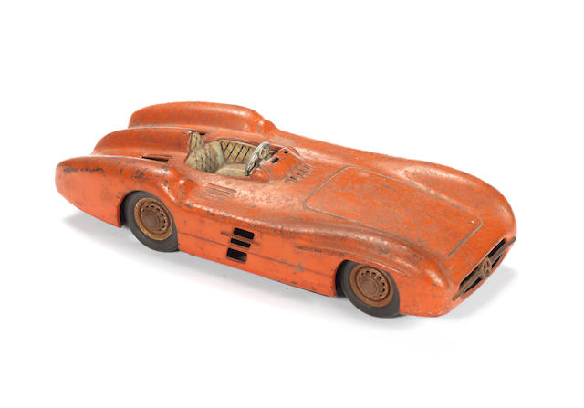 A Mercedes W196 'Streamliner' tinplate toy, made in Western Germany, mid-1950s,