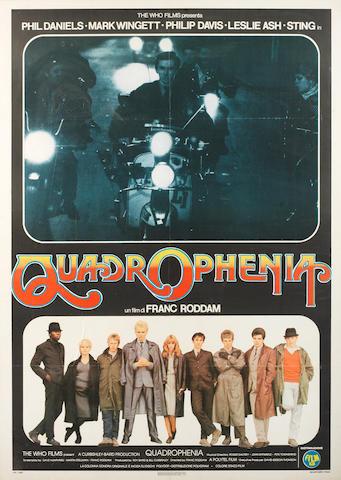 A rare Quadrophenia film poster, 1980,