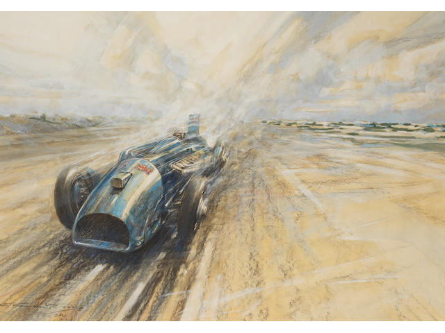 Frederick Gordon Crosby (1895-1943), 'Bluebird - and Daytona 1933',