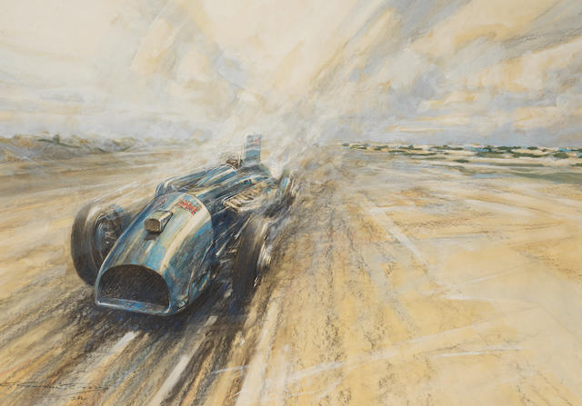 Frederick Gordon Crosby (1895-1943), 'Bluebird - and Daytona', 1933,