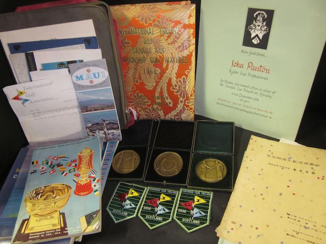 Canada [World] International Golf Trophy: John Panton's collection of medals and programmes