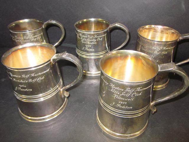 A Goldsmiths & Silversmiths Regent silver-plated tankard
