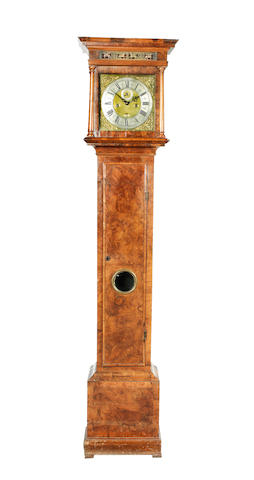 An early 18th century walnut longcase clock J. Windmills, London