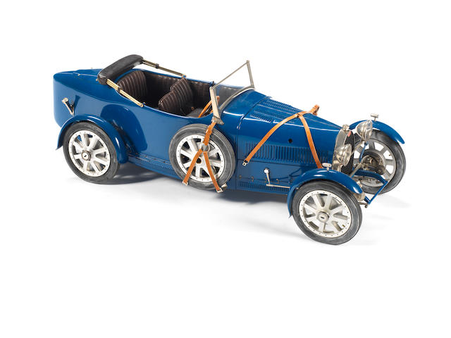 A fine 1:8 scale 'one-off' scratch-built model of a Bugatti Type 43 Torpedo, by Marc Antonietti,
