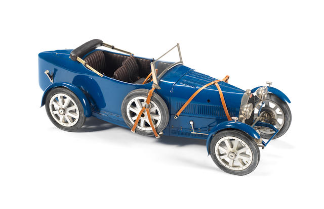 A fine 1:8 scale 'one-off' scratchbuilt model of a Bugatti Type 43 Torpedo, by Marc Antonietti,