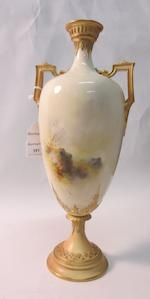 A Royal Worcester vase and cover by Harry Davis 1910