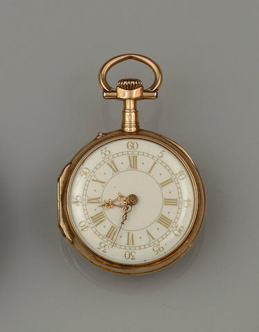 A late 19th century Continental fob watch