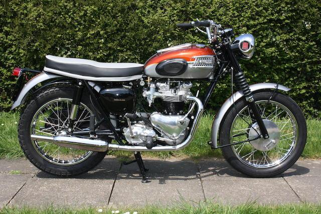 Bonhams 1962 Triumph 650cc T120r Bonneville Frame No D17506