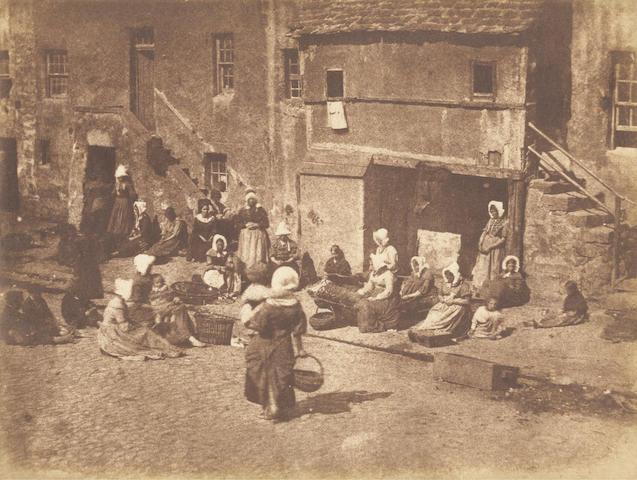 HILL (DAVID OCTAVIUS) and ROBERT ADAMSON North Street, Fishergate, women and children baiting the lines, [c.1845]