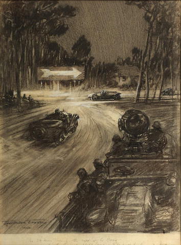 Frederick Gordon Crosby (1885-1943); 'The 24 Hour Touring Car race at Le Mans',