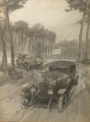 Frederick Gordon Crosby (1885-1943); 'Le Mans 24 Hour Race 1925',