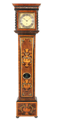 A 17th century and later grande sonnerie striking olivewood marquetry longcase clock with 10 inch dial, previously in the Iden Collection, number 3025 Joseph Knibb, London