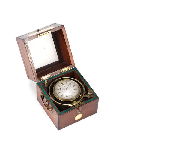 A good mid 19th century mahogany two day marine chronometer Parkinson and Frodsham, Change Alley, London, No. 2775