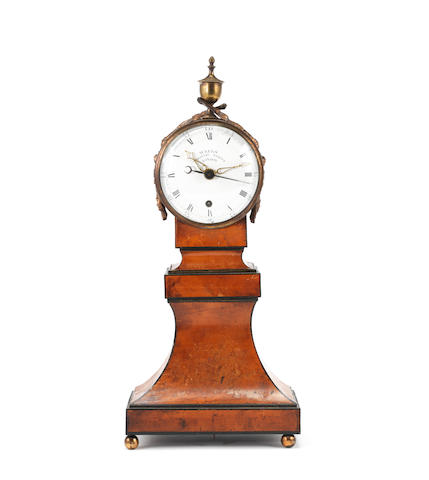 A fine late 18th century satinwood centre-seconds timepiece with enamel dial Weeks Coventry Street London