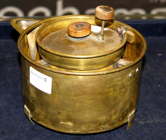 A brass Calorometer apparatus, circa 1900,