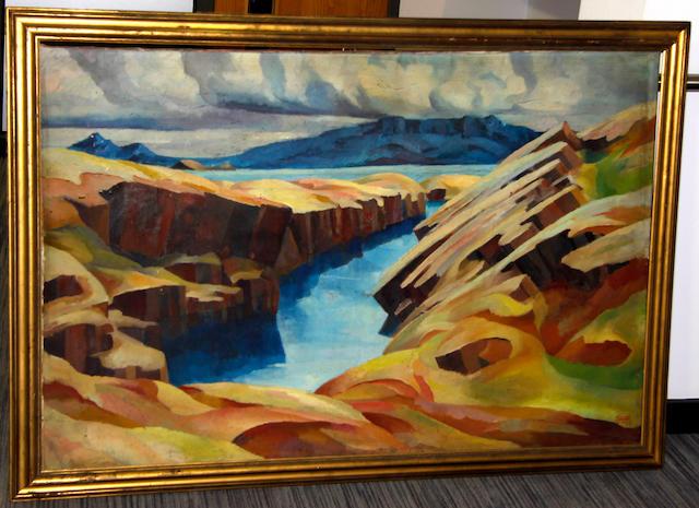 Eggert Gudmundsson (Icelandic, 1906-1983) Northern Coastal landscape