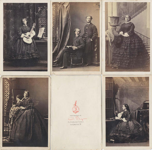 CARTES-DE-VISITE - CAMILLE SILVY A large collection of approximately 540 photographic cartes-de-visite (including 18 by Camille Silvy), and approximately 20 cabinet portraits (quantity)