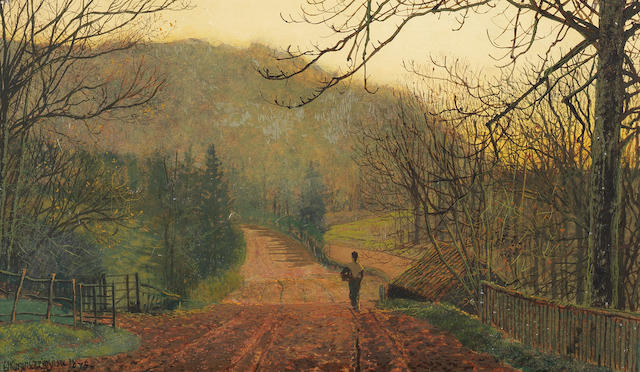 John Atkinson Grimshaw (British, 1836-1893) Forge Valley, Hackness, near Scarborough