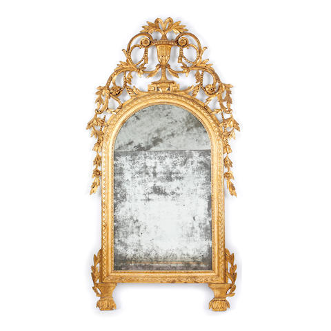 A 19th Century carved and gilded wall mirror