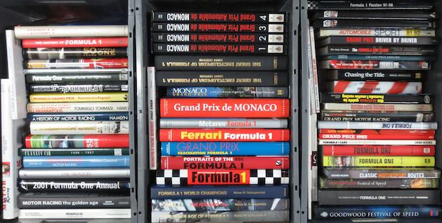 A quantity of Formula 1 and motor racing books,