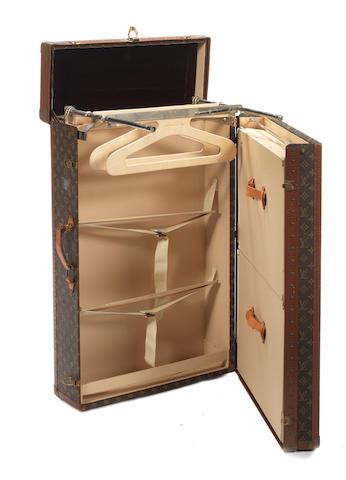 A Louis Vuitton wardrobe trunk,